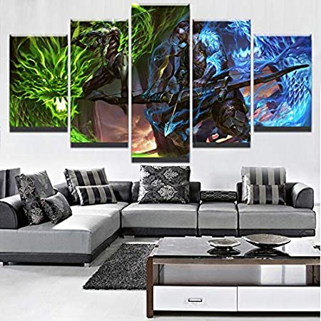 mmwin Modular Wall Art Pictures Modern Home Decor Living Room 5 ...