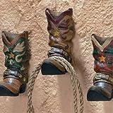 3 Cowboy Boots Western Coat Towel Wall Hooks Home Decor