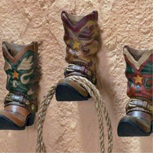 3 botas de vaquero Western ganchos para la pared perchero de ...
