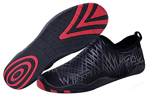 SAMI STUDIO Men and Women Water Shoes Suitable for Driving,Swimming,Boating,Yoga,Beach,Surf etc.Lightweight Durable Role Aqua Shoes Black S010205