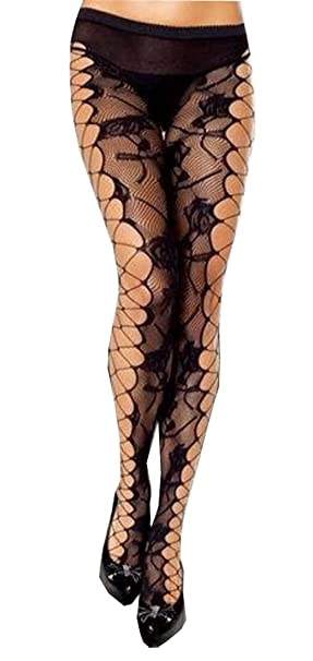 f468fc3b8 RedBeana Women Sexy See Through Floral Pattern Pantyhose Tight Stockings  Black One Size at Amazon Women s Clothing store