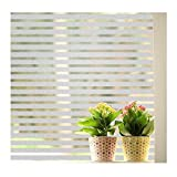 ANNIMOS Stripes Frosted Window Film Static Cling Privacy Decorative Glass Sticker 45x200CM