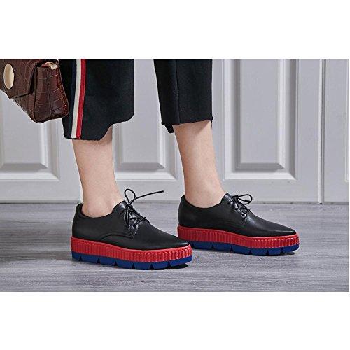 Créative A1109 Chaussures black Plateformes KJJDE Baskets à Série Femme WSXY Creepers wYY4xIq