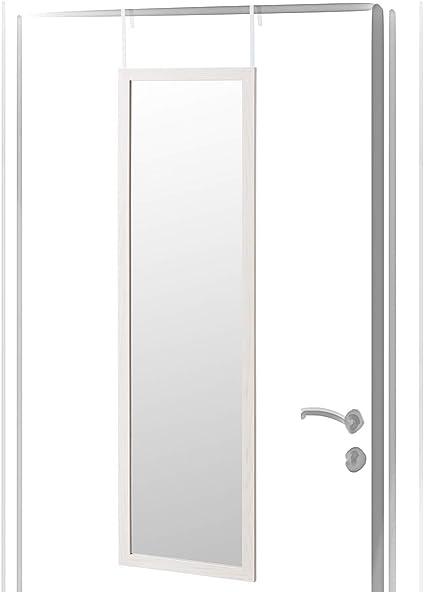 Espejo de Puerta nórdico Blanco de Madera MDF para Dormitorio de 35 x 125 cm Fantasy - LOLAhome: Amazon.es: Hogar