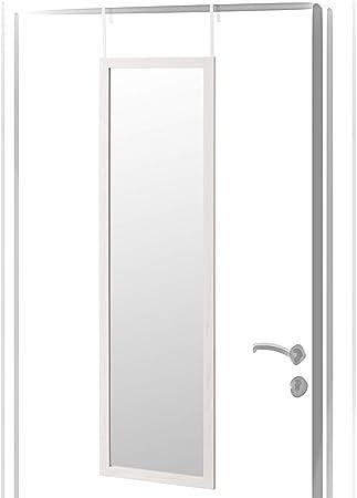 Espejo de Puerta nórdico Blanco de Madera MDF para Dormitorio de ...