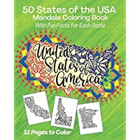50 States of the USA Mandala Coloring Book: With Fun Facts for Each State, United States of America (Coloring and…