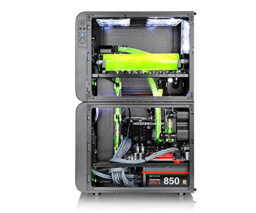 Thermaltake Core V21 SPCC Micro ATX, Mini ITX Cube Gaming Computer Case Chassis, Small Form Factor Builds, 200mm Front Fan Pre-installed, CA-1D5-00S1WN-00 by Thermaltake (Image #9)