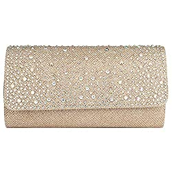 Rhinestone Studded Elegant Rectangular Clutch