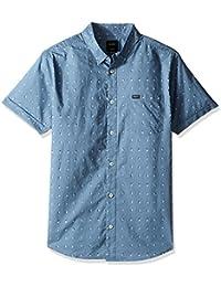 RVCA Men's Tabs Short Sleeve Woven Shirt