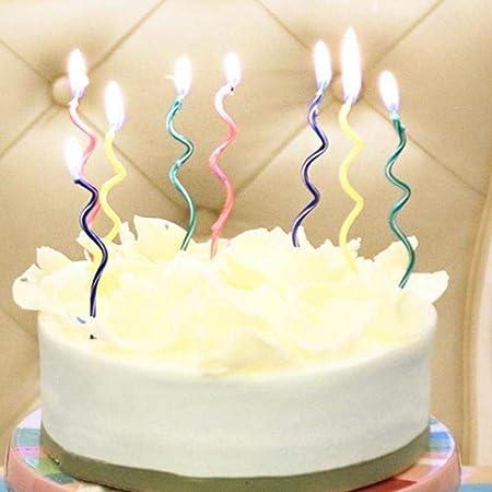 DYTJ-Candles 10 Unids/Lote Pastel Curvo De Color Vela Llamas ...
