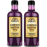 Village Naturals Aches and Pains Nighttime Relief Foaming Bath Oil and Body Wash 16 oz. 2 pack