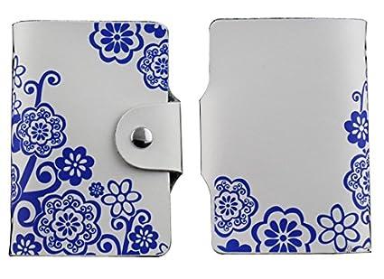 raya derecha MYLB Porte 26 Cartes Cr/édit Bleue Visite Fid/élit/é En Pochette Femme Homme En Cuir De V/éritable