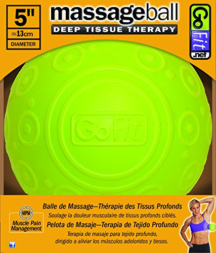 GoFit Massage Ball 5in by Deep Muscle Tissue Relief with Trigger Point, Targeting Knots & Sore Muslces by GoFit
