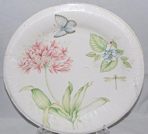 Lenox Butterfly Meadow Pink 16 Coated Dinner Paper Plates & Lenox Paper Plates. Lenox Butterfly Meadow Pink 16 Coated Dinner ...