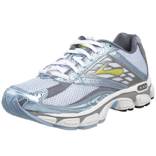 Brooks Women's Glycerin 8 Neutral Running Shoe,White/Sky Blue/Pavement,10 D US