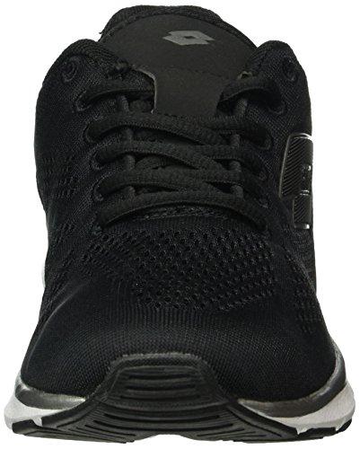 Lotto Ariane Iv Amf W, Zapatillas de Running para Mujer Negro / Blanco (Blk / Wht)