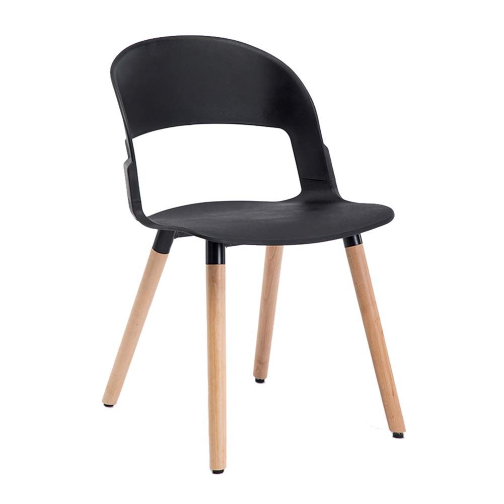 K Nordic Solid Wood Dining Chair,Modern Creative Leisure Chair, PP Plastic Makeup Stool,for Restaurant Pub Cafe Living Room Bedroom