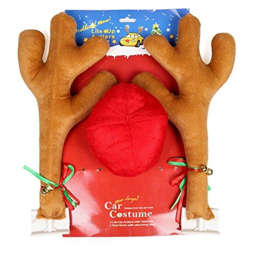 (Goetland Christmas Reindeer Antler Costume Kit Jingle Bells Christmas Accessories Car)