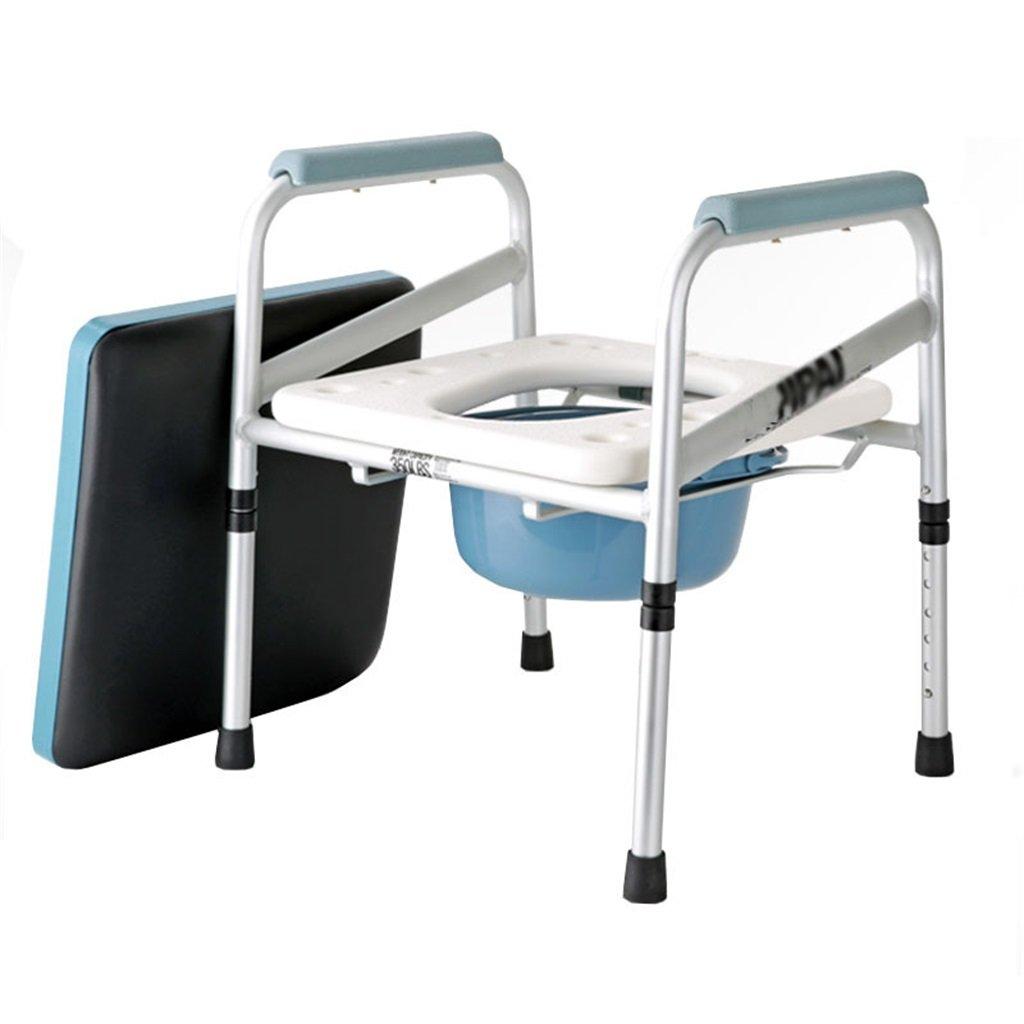 バスルームアンチスリップ調節可能な高さバスルームシャワースツール高齢者折り畳み式椅子椅子パドヘッド付きトイレチェア妊婦トイレシート最大150kg B07DHH5JV8