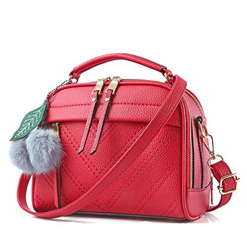 PINCNEL Women Fashion Top-Handle Handbag Pu Leather Shoulder Bag Tote Purse Messenger Satchel Bags