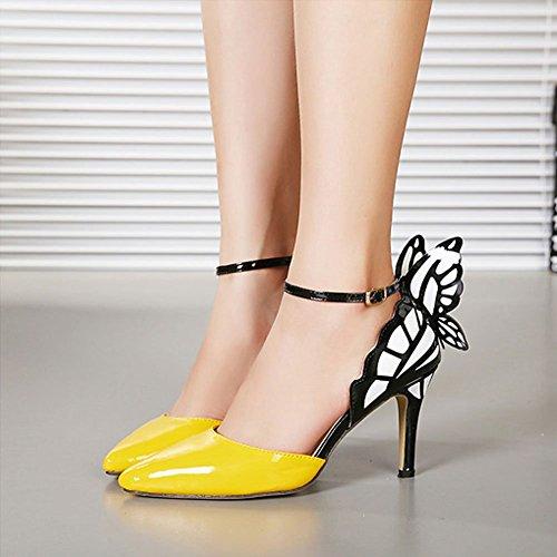 JOJO cat - Zapatos de vestir para mujer Amarillo - amarillo