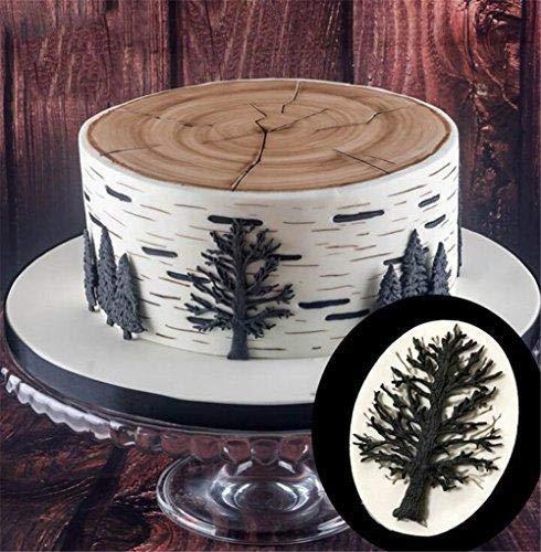 Jeffyo dise/ño de ramas de /árbol hornear y pasteles Molde de silicona para decoraci/ón de pasteles