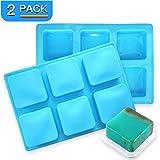 PERNY Soap Molds, Square Silicone Soap Mold (2.35 x 2.35 in, 3 oz)