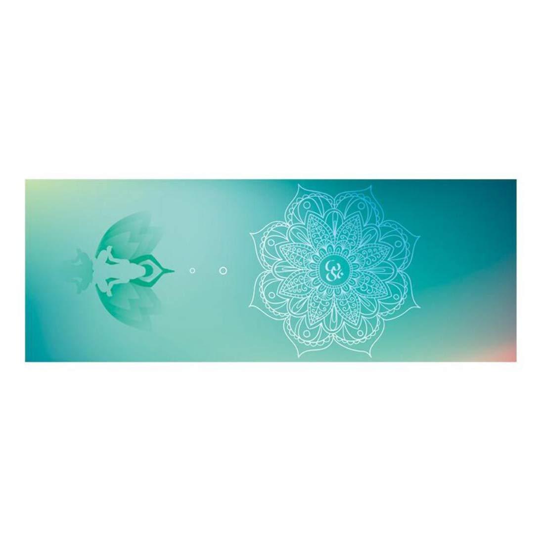 FELICIGG Stuoia di Yoga Che amplia la stuoia di Forma Fisica di Gomma Naturale piegante di Stampa Antisdrucciolevole per i Pilates Esercizio Ginnastica (Colore   E)