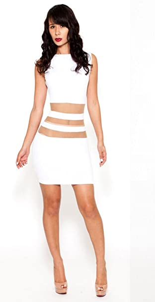 Mini vestido verano vestido Tirantes vestido para mujer vestido teiltrasparent Romantica fantastica Color Blanco blanco 38