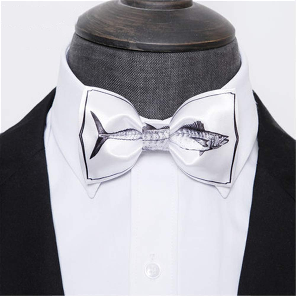 Dig Dog Bone Mens Tie Classic Tuxedo Sketch Tuna Bow Tie Adjustable