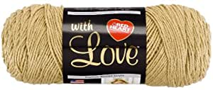 Red Heart with Love  Yarn, Tan