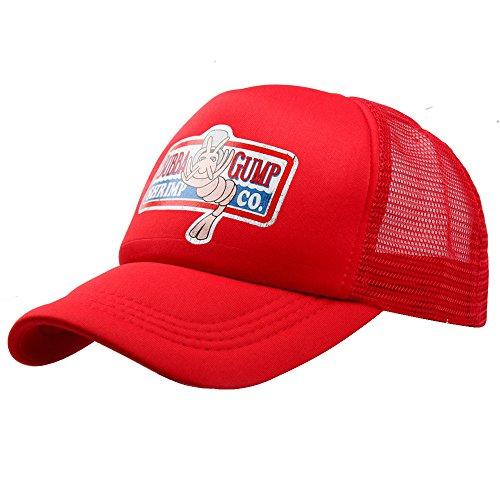 Greed Land Unisex Forrestt Gump Foam Front Mesh Back Trucker Cap Snapback Hat