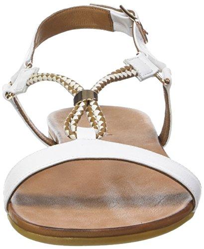 Inuovo 7114 - Sandalias Con Tira Vertical Mujer Blanc (White)