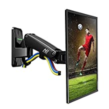"North Bayou Universal Full Motion Articulating Gas Spring TV Wall Mount F120 for LED, LCD, Flat Panel Screens, Monitors 17"" to 27 inch, supports load 5.5 to 15.4 lbs"