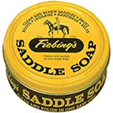 Fiebing's Yellow Saddle Soap, 12 Ounce - Cleans, Softens and Preserves Leather