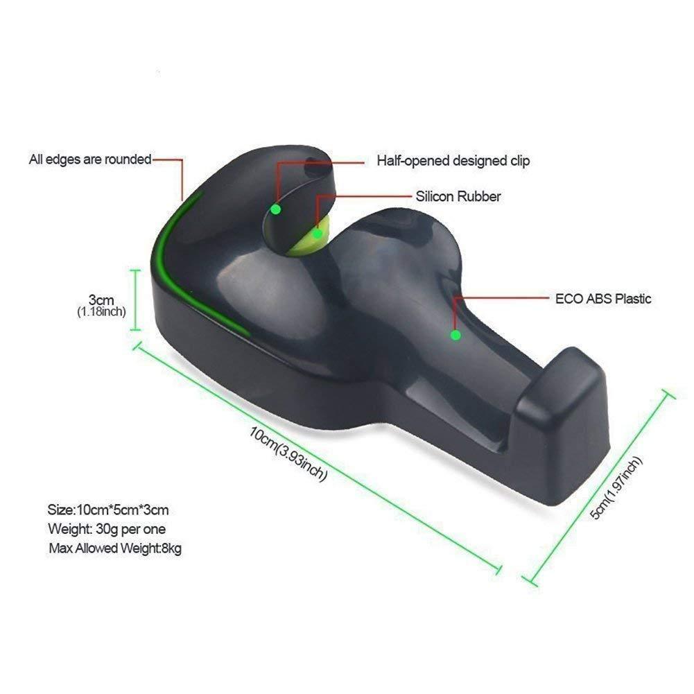 CIKIShield 17 Pack of 4 Universal Car Vehicle Back Seat Headrest Hanger Holder Hook for Bag Purse Cloth Grocery