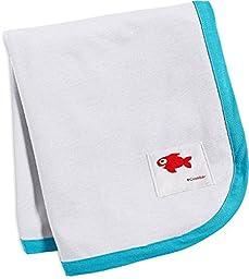 Coolibar UPF 50+ Baby Sun Blanket - Sun Protective (One Size - White/Hawaiian Azure)