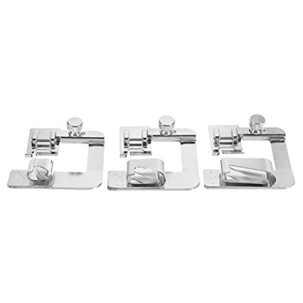 6 Sizes Narrow Wide Rolled Hemmer Hem Foot Set For Domestic Sewing Machines