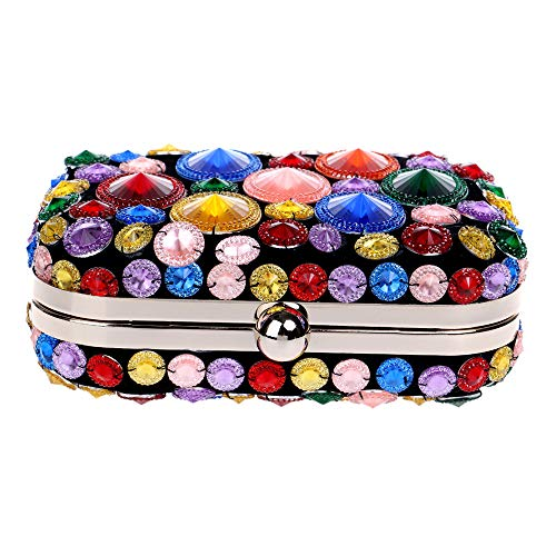 Dress Shiny colored Bridesmaid Clutch Party Dinner Diamond Multi Bag girl Maybesky Ladies' women lady yvOd6qqZH