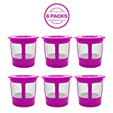 #1: 6 Pack Keurig Reusable K Cup Coffee Filters, KUNGIX Universal Premium Stainless mesh Replacement K Cup for Keurig Family 2.0 and Classic 1.0 Brewers Coffee Makers