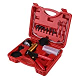 Estink Brake Bleeder Kit, Handheld Vacuum Pump Test Tester Tuner Tool Set With Protected Case for Automotive Vehicle