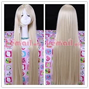 100cm Supper Long Beige Chii Chobits Straight Cosplay Wig Cw09