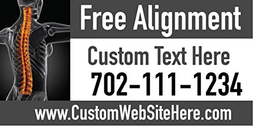 Custom Printed Chiropractic Banner - Free Alignment (10' x 5') by Reliable Banner Sign Supply & Printing (Image #1)