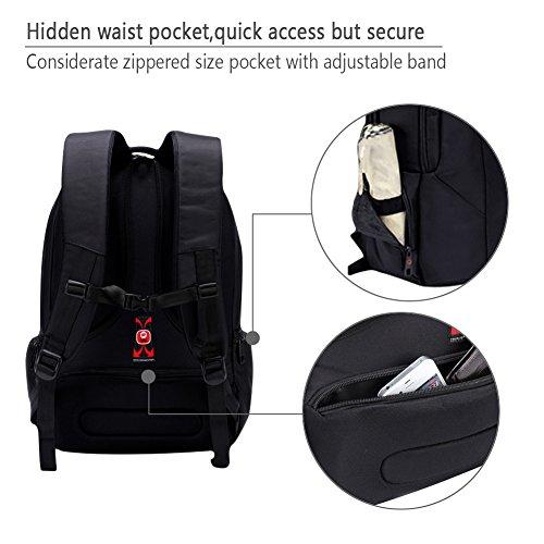 kopack Laptop Backpack Slim Computer Travel Bag Anti Theft Water Resistant 15.6 Inch Black KP492 by kopack (Image #8)
