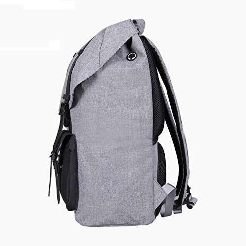 Mefly Moda hombres Mochila Bolsa de viaje gris de gran capacidad Real Oxford patrón Material impermeable mochila de mochilero,gris,China China