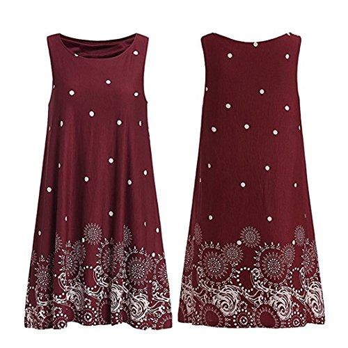 Vestito In Chiffon Vestiti Audrey Donna Vintage Senza Maniche Abito Kword Donna Abito Vestito Vino Bohemien Gonna Rotondo Vestito Sera Da Elegante 50Anni Hepburn Pr7xZP