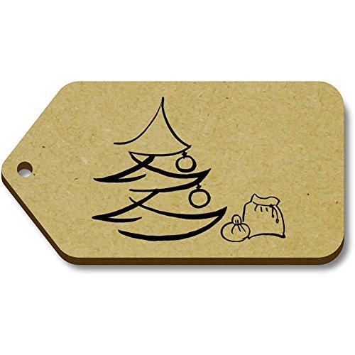 10 Saco' Regalo equipaje Etiquetas Azeeda Y Navidad X tg00001193 34mm 66mm 'árbol De axqpBw