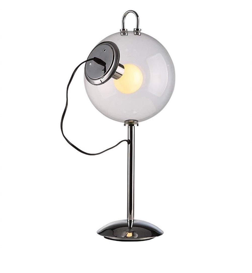 Ououy テーブルランプガラス電気スタンド学習ランプベッドサイドベッドルームランプメタルモダンミニマリストスタイルのシャボン玉ランプ 品質保証 B07S3W81J4