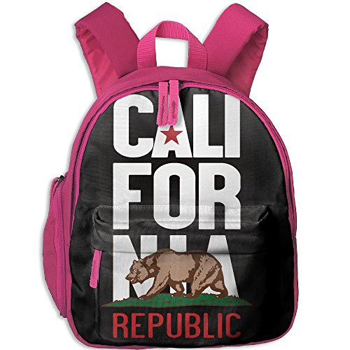 HZamora_DM Girl California Republic Bear USA Oxford School Bag Backpacks Bookbag Lunch Bag Side Pocket - California Shopping Usa Online In