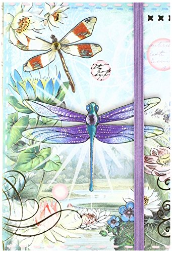 Punch Studio Soft Cover Bungee Journal Dragonfly -